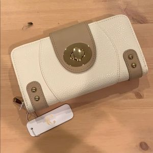 Charming Charlie Cream Wallet